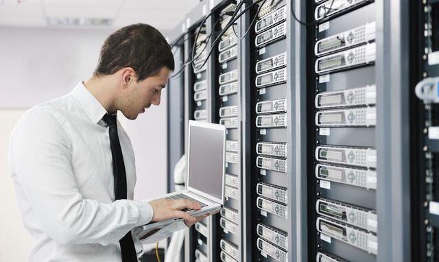IT staff performing system checks